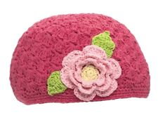 San Diego Hat Company - Toddler Knit Beanie - Pink Flower - 1-2T