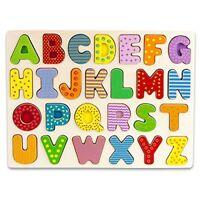 Professor Poplar's Wooden Alphabet Letters Puzzle Board Sensory Tactile Learning