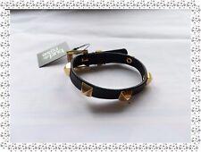 Magnifique Bracelet Fantaisie Cuir Noir Doré  Bud to Rose by Diddi