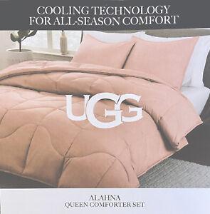 "NWT UGG Alahna ""Rose Cloud"" QUEEN COMFORTER SET All Season Cooling Technology"