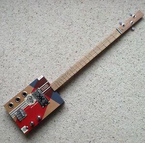 Avo Uvezian 3 string electric cigar box guitar