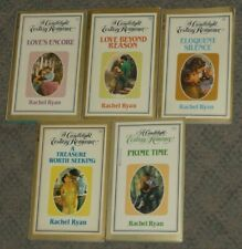 Lot of 5 RACHEL RYAN Candlelight Ecstasy Romance paperback books SANDRA BROWN