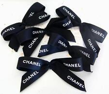 CHANEL 5 Pieces Chanel Ribbon Bows Self-Adhesive Black - White