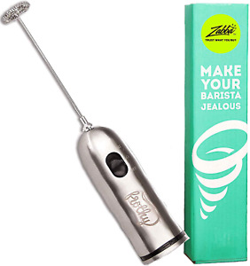 Electric Milk Frother, Handheld Drink Mixer - Foamer for Smooth, Creamy Coffee,