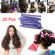 20 Pcs Soft Bendy Twist Hair Rollers Foam Curlers Twistee Benders Girl DIY Tool