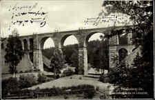 1940 Stempel FRANKENBERG auf AK Eisenbahn Brücke Lützeltal  alte Postkarte