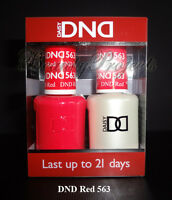 DND Daisy Soak Off Gel Polish DND Red 563 full size 15ml LED/UV gel duo NEW