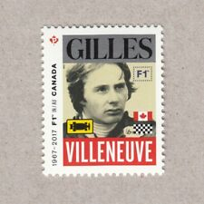 FORMULA-1 = GILLES VILLENEUVE = stamp from MiniSheet  MNH Canada 2017 #2992b
