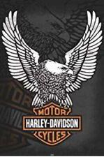 HARLEY DAVIDSON MOTORCYCLE LOGO POSTER 24 X 36 READY TO FRAME LICENSED GARAGE