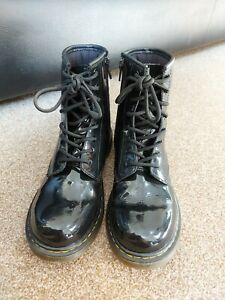 Doc Martens Black Patent Leather 1460s Boots 4UK