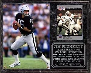 Jim Plunkett #16 Oakland Raiders Photo Card Plaque Super Bowl Champion