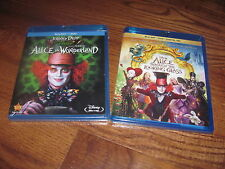 Lot of 2] Disney's Alice in Wonderland & Alice Through the Looking Glass Blu-ray