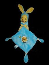 Doudou Winnie jaune déguisé en lapin bleu carré Simba Nicotoy Smoby Disney