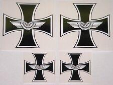 Adesivo 4 Pezzi EK Croce Di Ferro Luftwaffe 2x 9,3 cm 2x 5,5cm AU008
