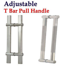 """Pair Of Adjustable Modern Stainless Steel Entrance Front Door Pull Handle 24"""""""