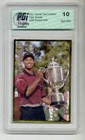 2001 SCI Tiger Woods PGI 10 Gold rookie card PGA golf!
