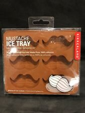 Kikkerland MUSTACHE Silicone Ice Cube Tray makes 6 Ice Cubes Bar Free Shipping