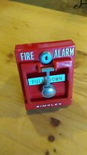 Vintage Fire Alarm Pull Station Simplex. Very nice and glossy condition.