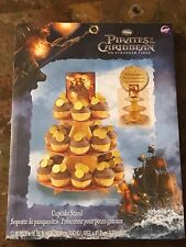 Pirates Of The Caribbean Cupcake Stand Party Favor Depp Disney New Box Sealed