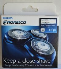 New Sealed Philips NORELCO HQ8 Shaver Heads Replacement Parts-Dual Precision