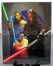 "Star Wars Phantom Menace 11""x14"" Darth Maul Montage w/ Qui-Gon & Obi-Wan Poster"