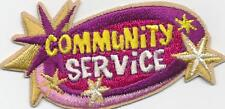 Girl Boy Cub COMMUNITY SERVICE Stars Fun Patches Crests Badges SCOUTS GUIDES