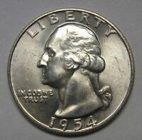 1954-D Washington Silver Quarter Grading in the Choice BU Range  DUTCH AUCTION
