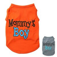 Small Dog Pet Clothes Summer Mommy's Boy Vest Sleeveless Puppy T-Shirts Apparel