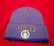 MENS AIR FORCE STOCKING HAT BEANIE MILITARY APPAREL WITH AIR FORCE EMBLEM NEW