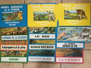 LOT DE 11 DECORAMA TOURET + 1 PLAY STORY BOOK