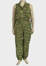 Ladies Camouflage Military Style Green Jumpsuit Love By Chesley Size 1XL 14