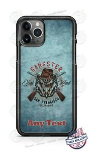 San Francisco Gangster Bears Phone Case For iPhone 11Pro Max Samsung LG Google