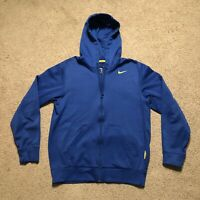 Nike Livestrong Therma Fit Zip Hoodie Blue Size Small Running