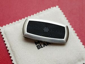 Montblanc Stainless Steel And Rubber Money Clip