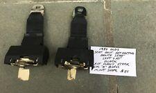 1980 GM Oldsmobile Seat Belt Retractors Bench Seat Left & Right Black Used