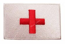 #43 - ENGLAND Flag Iron On Patch Aufbügler Applique Fahne Flagge RED CROSS