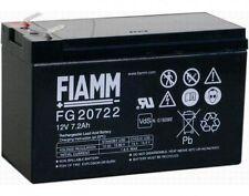 BATTERIA FIAMM FG20722 12V 7.2A PIOMBO GEL ERMETICA RICARICABILE 13,8v 6,3mm