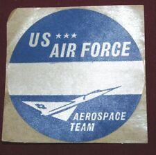 "1950'S - 60'S Vintage U.S. Air Force Aerospace Team ""Silk"" Sticker"