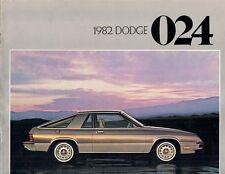 DODGE 024 1982 USA delle vendite sul mercato opuscolo Miser CUSTOM CARICABATTERIE 2.2