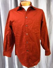 Crazy Horse A Claiborne Company Dress Shirt Size 15.5 (32-33) Rusty Brown 060