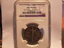 1921 S  WALKING LIBERTY HALF DOLLAR NGC F