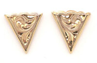 NEW! Western Collar Tips - Engraved - Gold Plated
