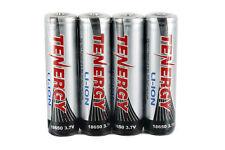 4 x Tenergy Li-Ion 18650 Cylindrical 3.7V 2600mAh Batteries w/ PCB (Button Top)