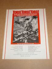 """Tora! Tora! Tora!"" (Martin Balsam/Soh Yamamura) 1970 UK Campaign Book"