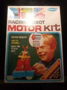EXTREMELY RARE 1967 REMCO RACING ROBOT MOTOR KIT NICE BOX UNUSED STICKERS AS IS