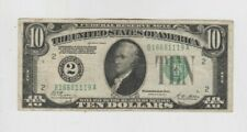 Federal Reserve Note $10 1928-A Redeemable in gold vf