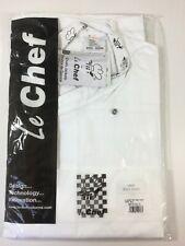 2 x Le Chef - Short Sleeve Academy Tunics StayCool Lining Mandarin Collar Size L