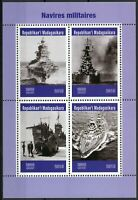 Madagascar 2019 MNH Military Ships Battleships Warships 4v M/S Stamps