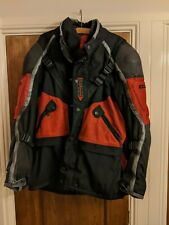 Dainese textile winter heavily armoured black/red motorcycle jacket Euro  56