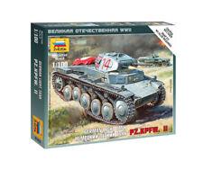German Panzer II 1/100 Military Model Kit - Zvezda 6102